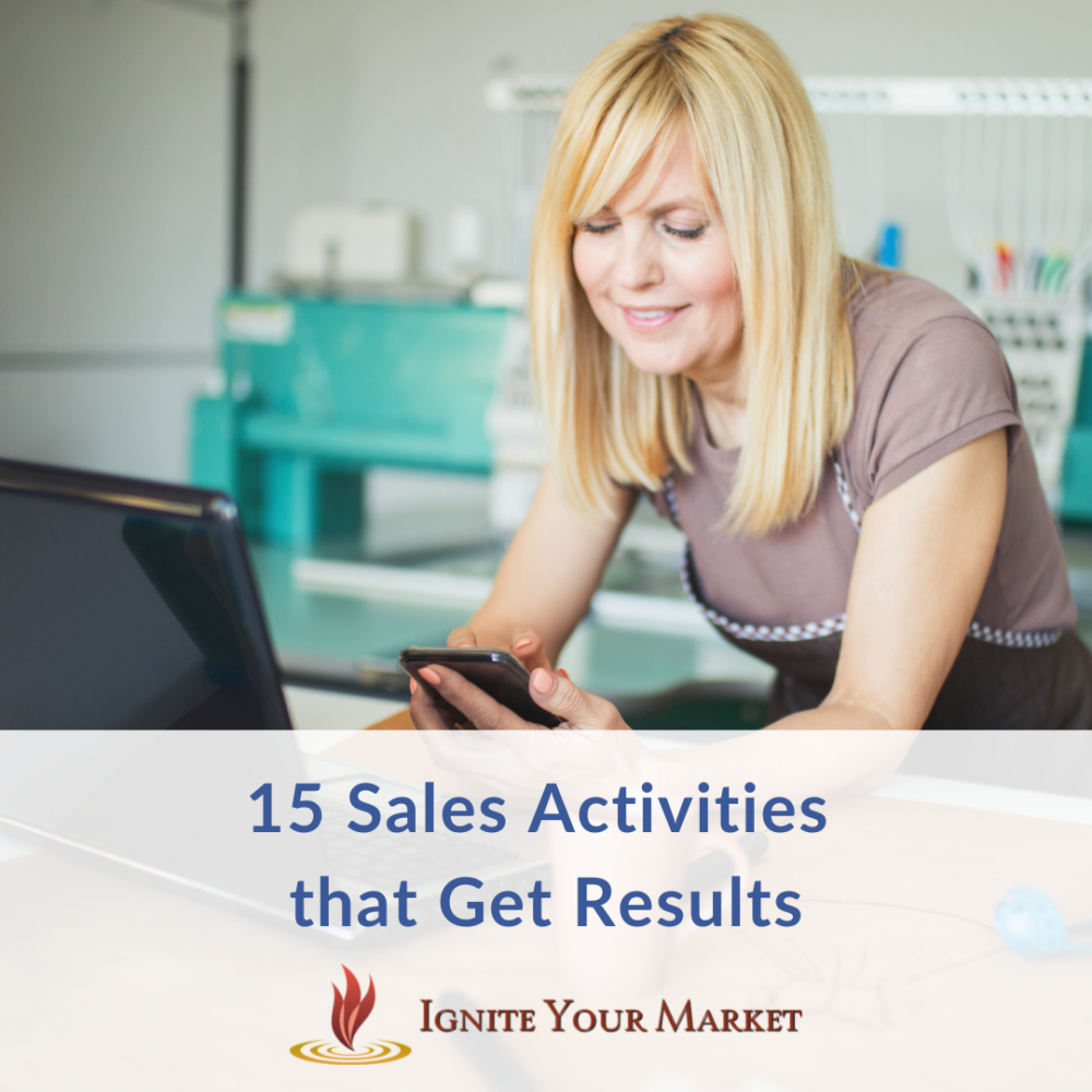 15 Sales Activities that Get Results