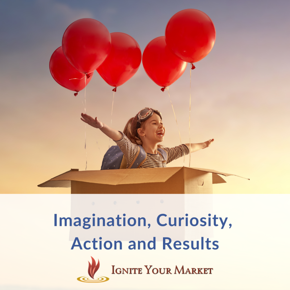Imagination, Curiosity, Action and Results